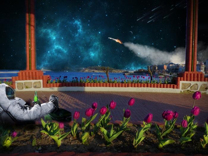Espacio + astronauta
