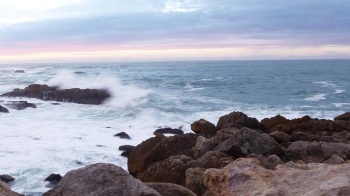 La fuerza de la mar con un efecto seda